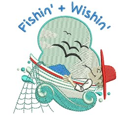 Fishin & Wishin embroidery design