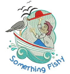 Something Fishy embroidery design