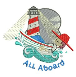 All Aboard embroidery design