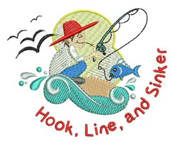 Hook Line Sinker embroidery design