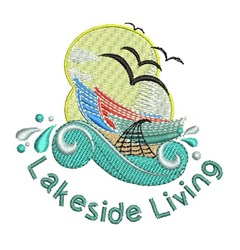 Lakeside Living embroidery design