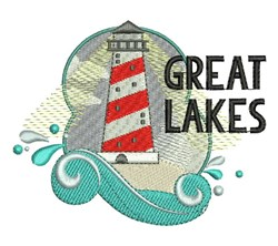 Great Lakes embroidery design