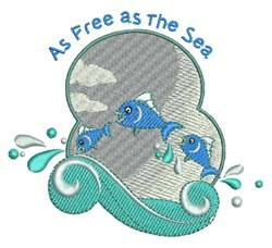 Free As Sea embroidery design