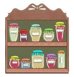 Homemade Food Shelf embroidery design
