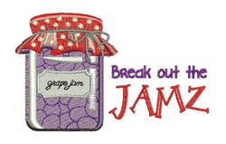 Break Out Jamz embroidery design