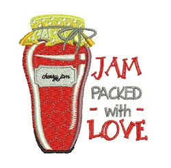 Jam Packed embroidery design