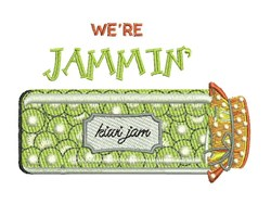 Were Jammin embroidery design