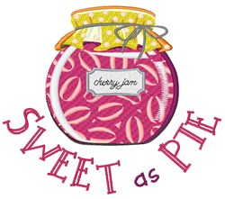 Sweet As Pie embroidery design