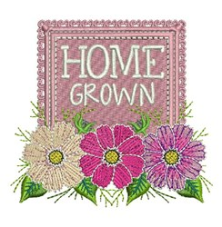 Home Grown embroidery design