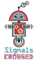 Signals Crossed embroidery design