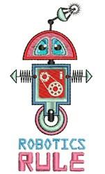 Robotics Rule embroidery design