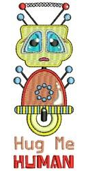 Hug Me Human embroidery design