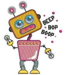 Beep Bop Boop embroidery design