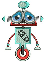 Big Eye Robot embroidery design