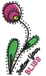 Follow Your Bliss embroidery design