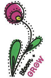 Bloom + Grow embroidery design
