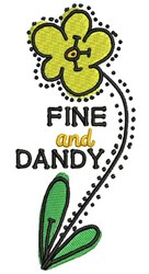 Fine And Dandy embroidery design