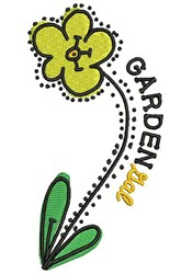 Garden Gal embroidery design
