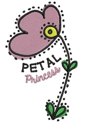 Petal Princess embroidery design
