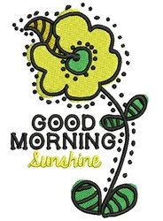 good Morning Sunshine embroidery design