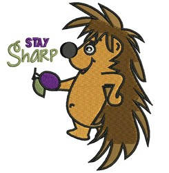 Stay Sharp embroidery design