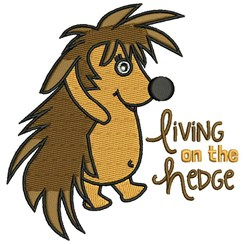 Living On The Hedge embroidery design
