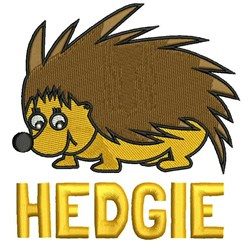 Hedgie embroidery design
