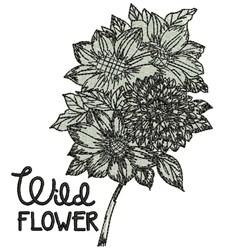 Wild Flower embroidery design