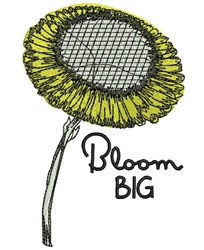Bloom Big embroidery design