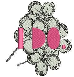 I Do embroidery design