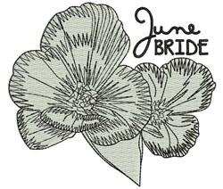 June Bride embroidery design