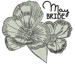 May Bride embroidery design