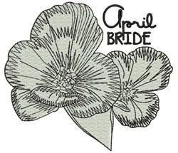 April Bride embroidery design