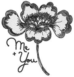 Me & You embroidery design