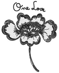 One Love embroidery design
