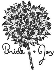 Bride & Joy embroidery design
