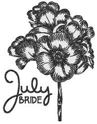 July Bride embroidery design