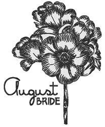 August Bride embroidery design