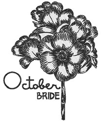 October Bride embroidery design