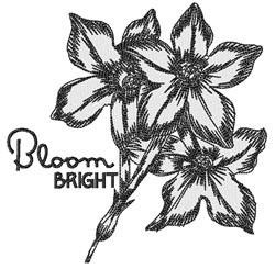 Bloom Bright embroidery design