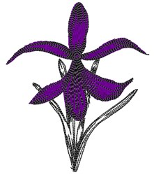 Orchid Bloom embroidery design