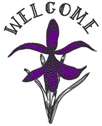 Welcome Flower embroidery design