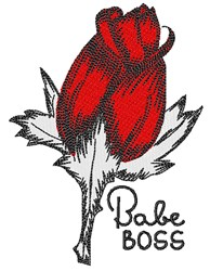 Babe Boss embroidery design