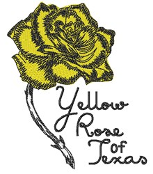 Rose Of Texas embroidery design