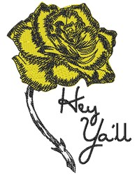 Hey Yall embroidery design