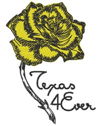 Texas 4 Ever embroidery design