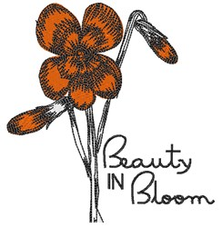 Beauty In Bloom embroidery design