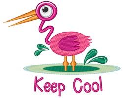 Keep Cool Flamingo embroidery design