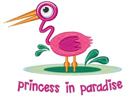 Princess In Paradise embroidery design