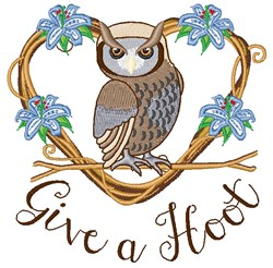 Give A Hoot embroidery design